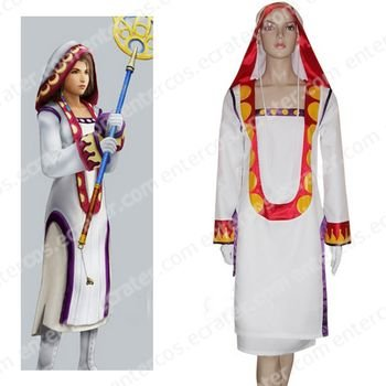 Final Fantasy XII Yuna White Mage Halloween Cosplay Costume   any size.
