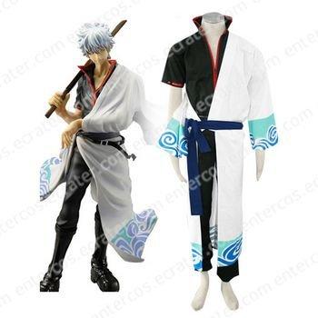 Gin Tama Gintoki Sakata Cosplay Costume any size.
