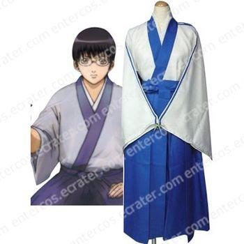 Silver Soul Shinpachi Shimura Cosplay Costume any size.