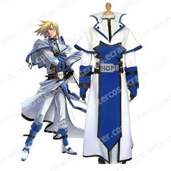 Guilty Gear Ky Kiske Halloween Cosplay Costume   any size.