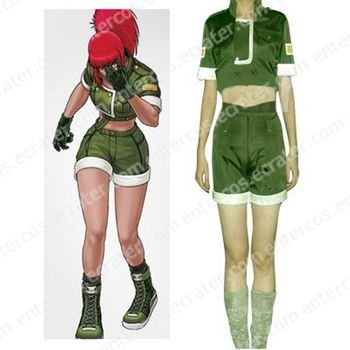 King Of Fighters Leona Cosplay Costume  any size