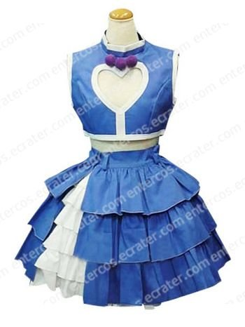 The King of Fighters Athena Asamiya Blue And White Cosplay Costume  any size