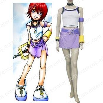 Kingdom Hearts 1 Kairi Halloween Cosplay Costume  any size