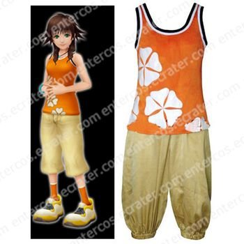 Kingdom Hearts II Olette Cosplay Costume   any size