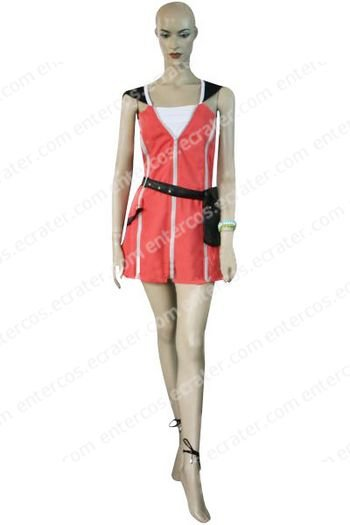 Kingdom Hearts Kairi Red Dress Halloween Cosplay Costume  any size