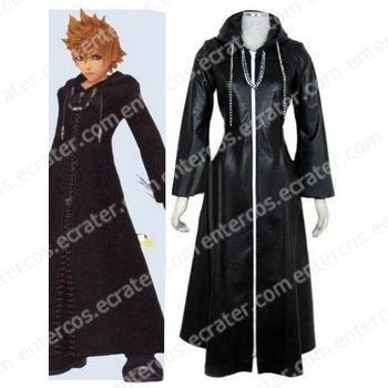 Kingdom Hearts Organization XIII Roxas Halloween Cosplay Costume any size