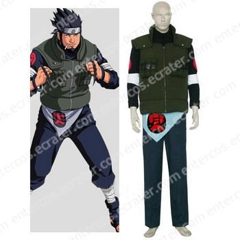 Naruto Asuma Sarutobi Halloween Cosplay Costume any size