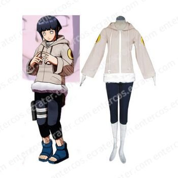 Naruto Hinata Hyuga Part I Deluxe Halloween Cosplay Costume  any size