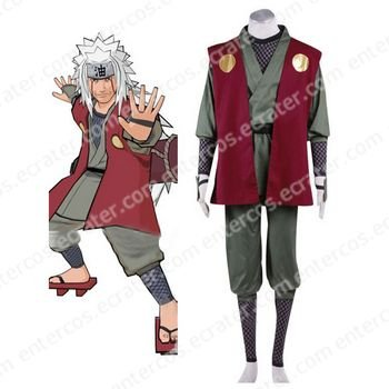 Naruto Jiraiya Halloween Cosplay Costume any size