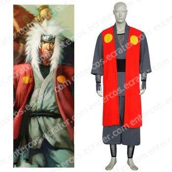Naruto Jiraiya Halloween Cosplay Costume 2 any size