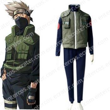Naruto Kakashi Sensei Halloween Cosplay Costume any size