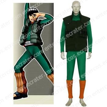 Naruto Maito Gai Halloween Cosplay Costume any size
