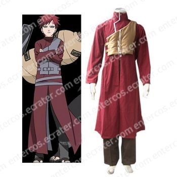Naruto Shippuden Gaara Red Halloween Cosplay Costume  any size