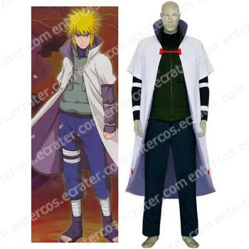 Naruto Yondaime 4th Hokage Halloween Cosplay Costume any size