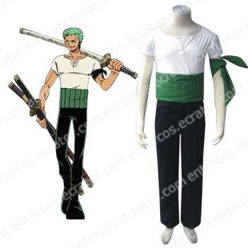 One Piece Roronoa Zoro Halloween Cosplay Costume any size