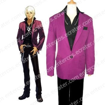 Phoenix Wright Ace Attorney Klavier Gavin Halloween Cosplay Costume  any size