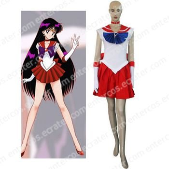Sailor Moon Sailor Mars Raye Hino Cosplay Costume  any size