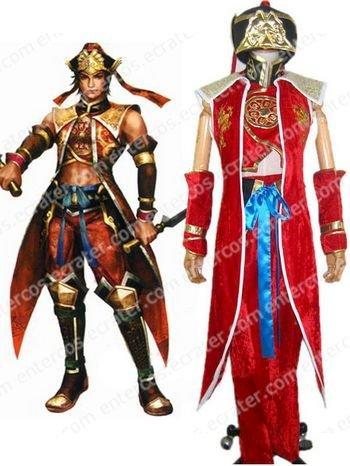 Dynasty Warriors 4 Lu Xun Cosplay Costume   any size