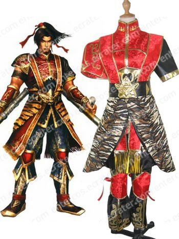 Dynasty Warriors 4 Sun Ce Cosplay Costume  any size
