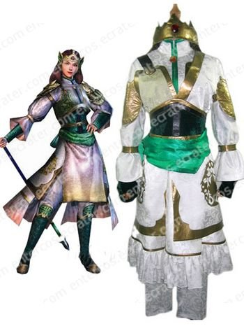 Dynasty Warriors IV Yueying Huang Cosplay Costume  any size