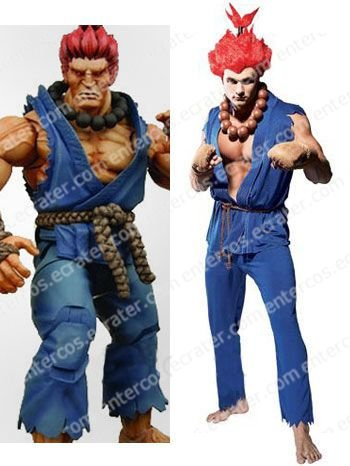 Street Fighter Akuma Adult Cosplay Costume  any size