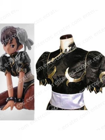 Street Fighter Chun-Li Black Halloween Cosplay Costume  any size