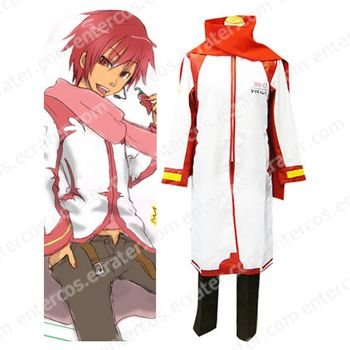 Vocaloid Akaito Red and White Cosplay Costume  any size