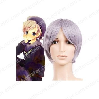 Light Purple 30cm Axis powers Hetalia Norway Nylon Cosplay Wig