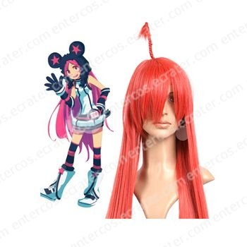 Red 100cm VOCALOID Miki Nylon Cosplay Wig