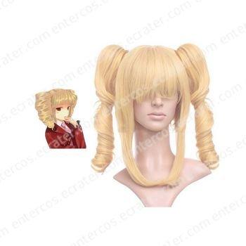 Golden 40cm When They Cry 3�Umineko no Naku Koro ni�Beruzebubu Nylon Cosplay Wig