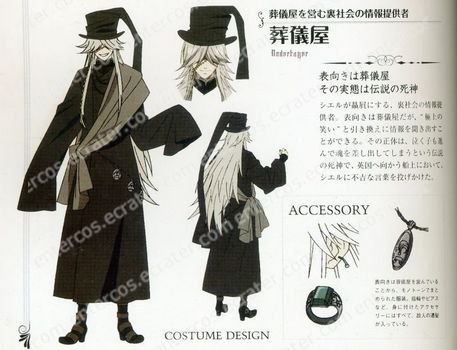 Cosplay wigs -Under Taker  100cm wigs from kuroshitsuji