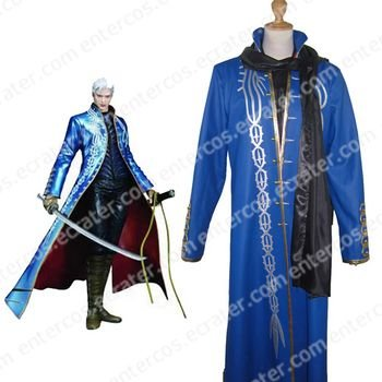 Devil May Cry III Vergil Vergil Cosplay Costume  any size