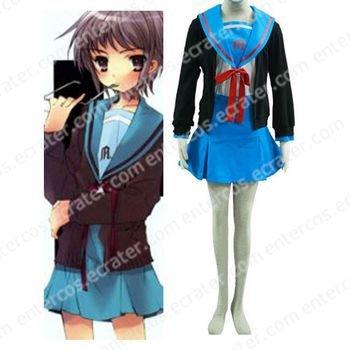 Haruhi Suzumiya Yuki Nagato Cosplay Costume any size