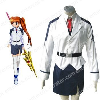 Mahou shoujo Magical Girl Lyrical Nanoha Takamachi Cosplay Costume any size