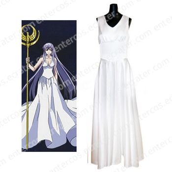 Saint Seiya The Lost Canvas - Myth of Hades Athena Cosplay Costume  any size