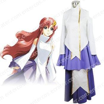Gundam Seed Destiny Lacus Clyne Halloween Cosplay Costume any size