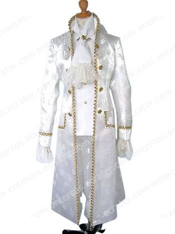 White Anime Cosplay Costume  any size