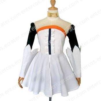 White Dress Cosplay Costume  any size