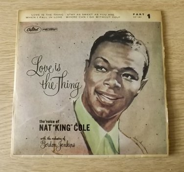 NAT KING COLE LOVE IS THE THING EP CAPITOL RECORDS 1957