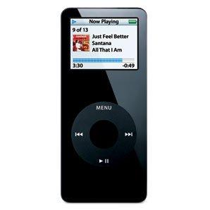 Black Apple iPod Nano 1GB MP3 Player - 1 GB