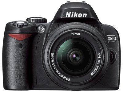 Nikon D40 Digital SLR Camera 2 lerns pro shooter kit
