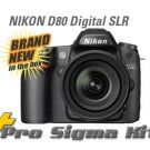 NEW Nikon D80 Digital SLR DSLR Camera 3 LENS & 4GB PKG