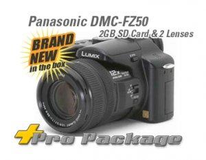 Panasonic Lumix DMC-FZ50K Camera DMC-FZ50 +2 LENS & 2GB