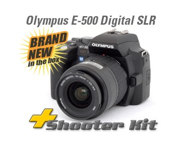 OLYMPUS EVOLT E-500 E500 8mp DIGITAL SLR + 3LENS +4 GIG