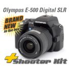 OLYMPUS EVOLT E-500 E500 8mp DIGITAL SLR + 3LENS +4 GIG