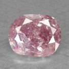 Natural Unheated Pink Oval Diamond 0.35 cts