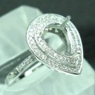 Solid 3.53grams 14K Gold .48cts Diamond Ring Mount
