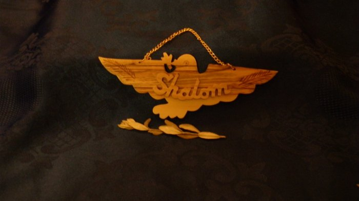 Decorative Olive Wood Peace Dove from Israel