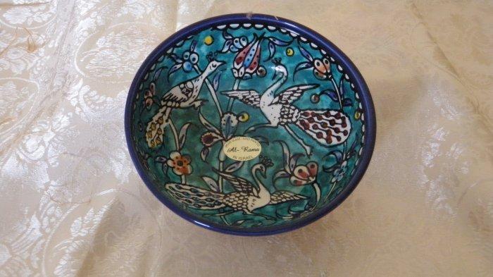Armenian Ceramic Decorative Bowl (Birds)