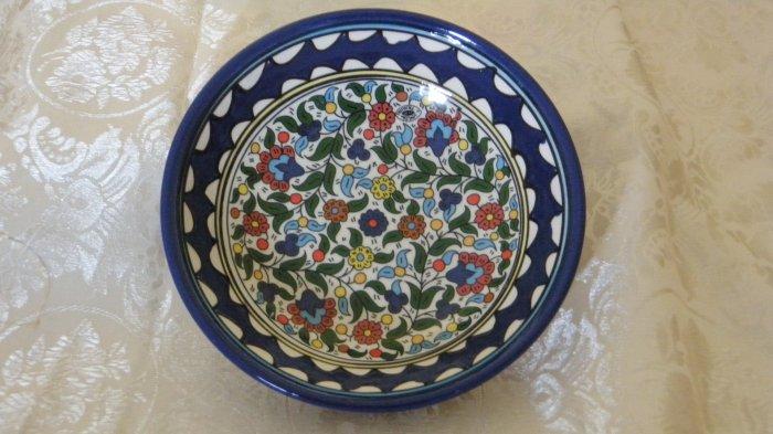 Armenian Ceramic Decorative Bowl (Flowers)